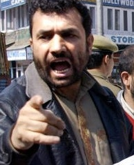 An angry Mir in Lal Chowk